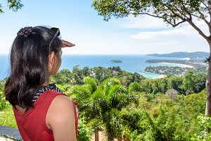 Woman on Hat Kata Karon Viewpoint