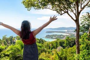 Woman on Hat Kata Karon Viewpoint