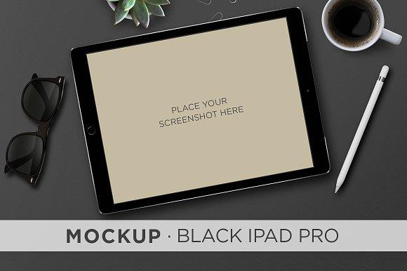 Download Mockup . Black iPad Pro & Pencil