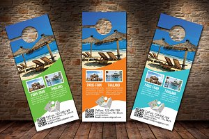 Tour Travel Agency Door Hanger