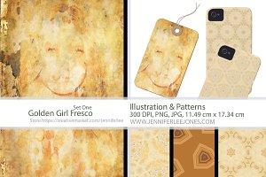 Vintage Girl Fresco