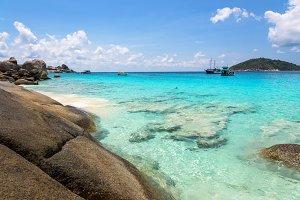 Sea and beach in Mu Ko Similan