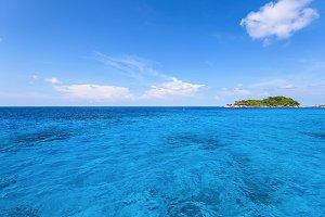 Blue sea in summer Thailand