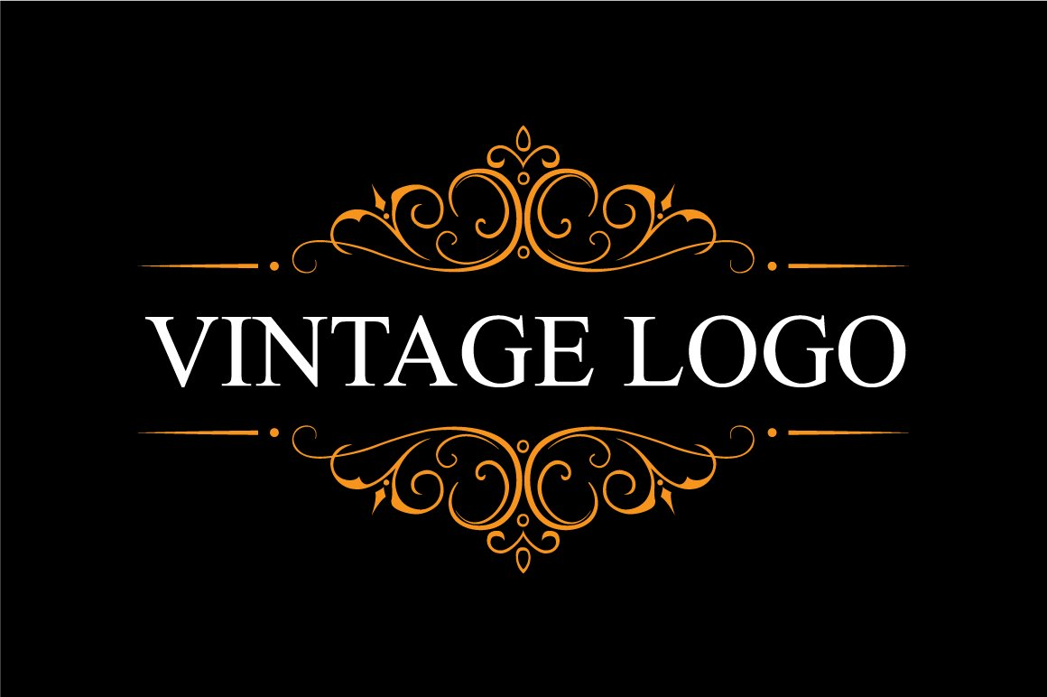 vintage logo logo templates creative market. Black Bedroom Furniture Sets. Home Design Ideas