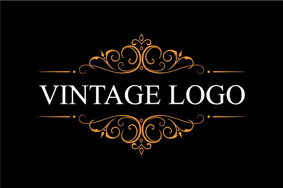 vintage logo logo templates creative market. Black Bedroom Furniture Sets. Home Design Ideas