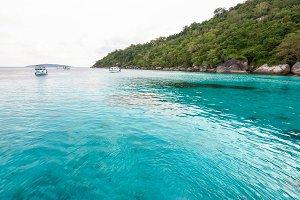Blue sea in summer