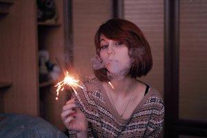 Sofia bengal fire, smoke