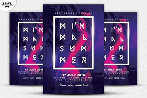 ELECTRO SUMMER Flyer Template