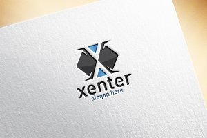 Xenter / Letter X Logo Template