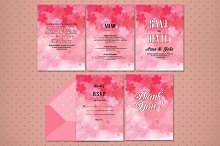 5 Pages Wedding Invitation Card