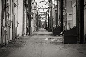 Alley - Black and White