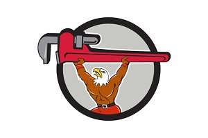 Bald Eagle Plumber Monkey Wrench