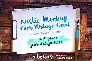 Clipboard: Rustic PSD Mockup