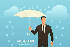 Protection business illustration.