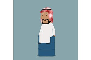 Frustrated arabian businessman