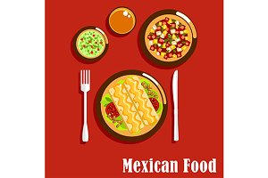 Spicy mexican cuisine food