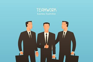 Teamwork business illustrations.