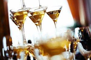 Champagne glasses. Concept picture.