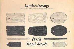 Lumbergrains Hand Drawn Rustic Pack