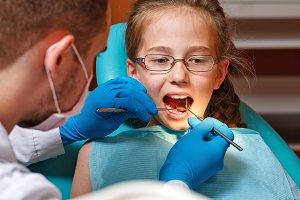 Pediatric dentist. Dental clinic
