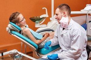 Children dentistry. Girl