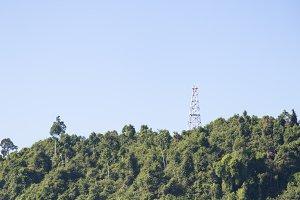 Phone antenna on mountain