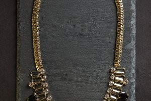 Top view of necklace
