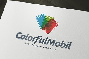Colorful Mobil Logo Template