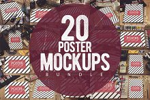 20 Poster Mockups Bundle [60% OFF]
