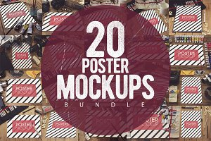 20 Poster Mockups Bundle [80% OFF]