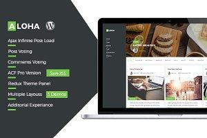 Aloha Wordpress Blog  Theme