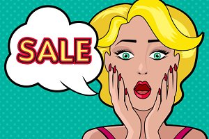 Woman Speech Bubble Sale