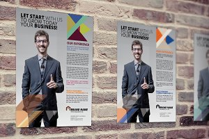Business Flyer Set 3 Colors