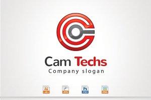 Cam Techs,C Letter Logo