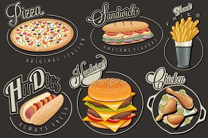 Retro vintage style fast food design