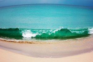 Seascape, fisheye view