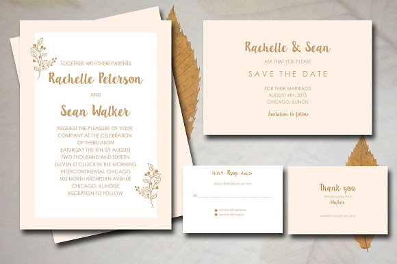 Classic Wedding Invitation Invitation Templates Creative Market – Classic Wedding Invitation Designs