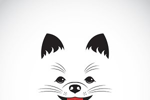 Vector image of an pomeranian dog