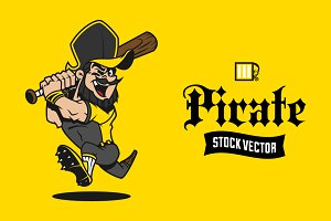 Pirate Mascot Stock Vector