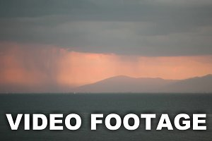 Timelapse of pouring rain
