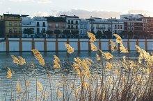 Sunset on the Guadalquivir river