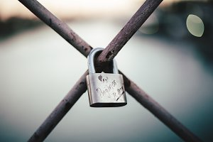 Love lock on Bridge.