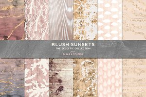 Blush Sunsets Rose Gold & Watercolor