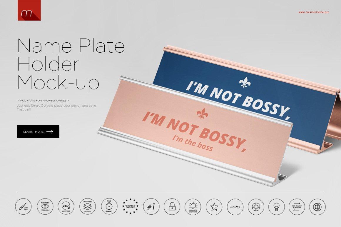name plate holder mock up product mockups creative market