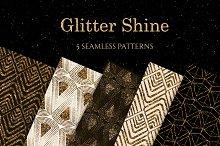 Glitter ornament seamless pattern