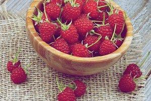 Perfect Ripe Raspberries
