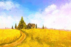 Landscape (vector+ rastr)