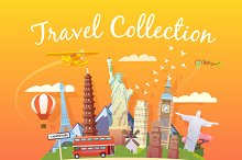 Travel Collection. Web illustrations