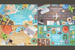 Travelling web illustrations.