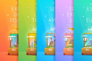 Travel Collection. Vertical banners.